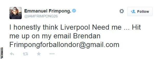 Emmanuel Frimpong on Twitter