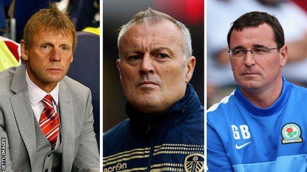 Stuart Pearce, Neil Redfearn and Gary Bowyer