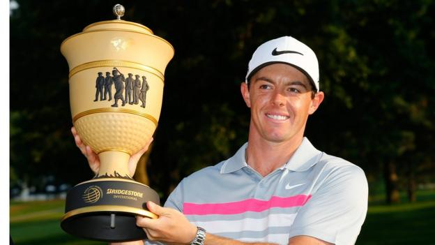 Rory McIlroy returned to the top of the world rankings in August after winning the WGC-Bridgestone Invitational at Firestone in Ohio by two strokes from Sergio Garcia.