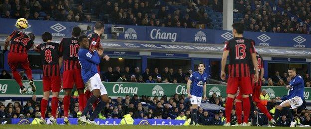 Everton forward Kevin Mirallas
