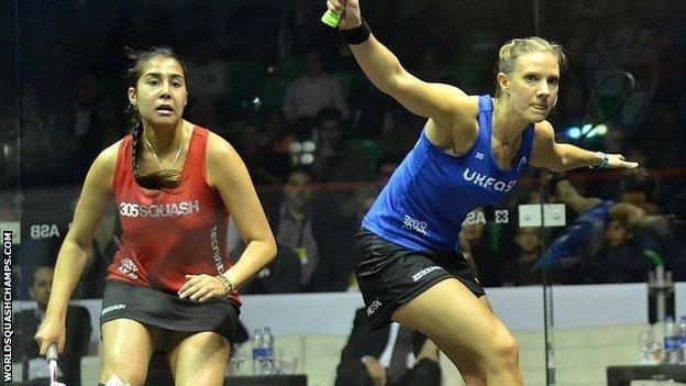 England's Laura Massaro beat Egypt's Mariam Metwally