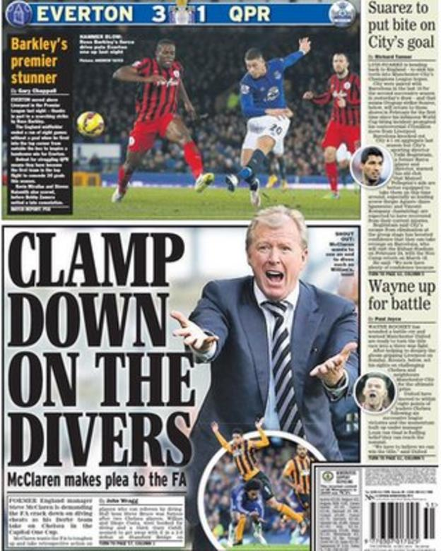 Tuesday's Daily Express back page