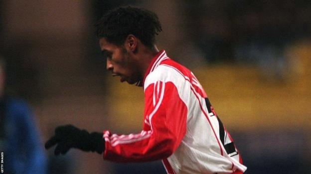 Thierry Henry playing for Monaco on 19.11.96