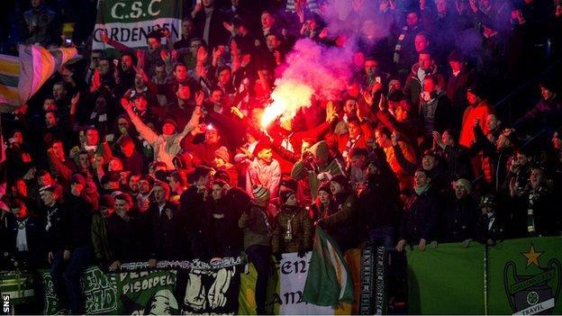 Celtic fans in Zagreb