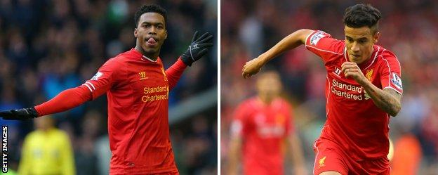 Liverpool duo Daniel Sturridge and Phillipe Coutinho