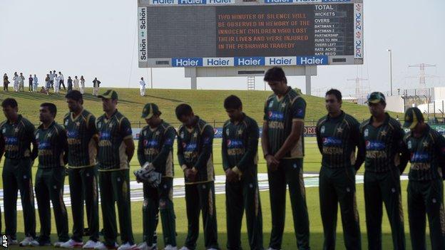 Pakistan's team against New Zealand