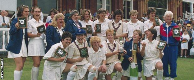 England with the 1993 Women's World Cup