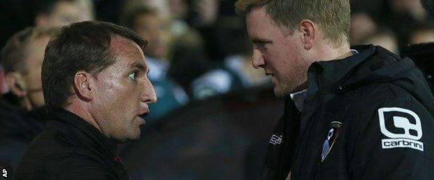 Brendan Rodgers and Eddie Howe