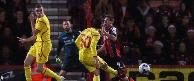 Lazar Markovic scores for Liverpool