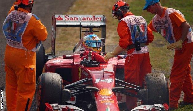 alonso retires from the italian grand prix