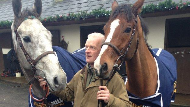 Willie Mullins with Champagne Fever & Faugheen