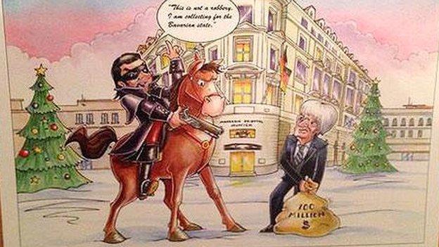 Bernie Ecclestone 2014 Christmas Card
