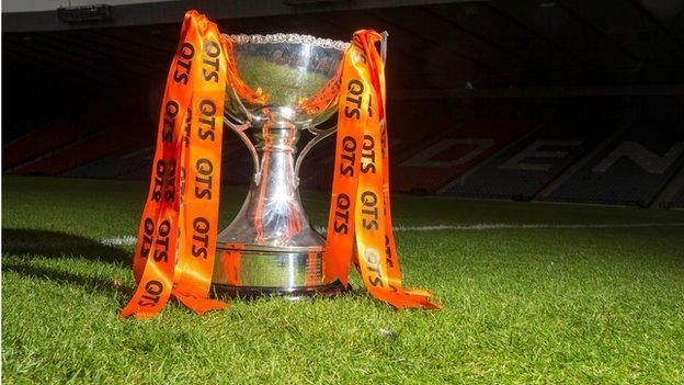 The Scottish League Cup trophy