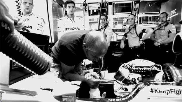 Hamilton prepares for the Abu Dhabi Grand Prix