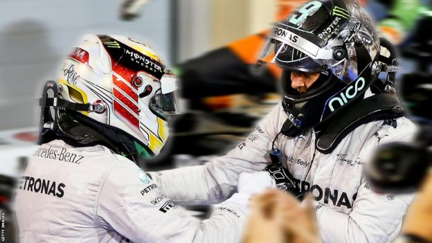 Nico and Lewis in Bahrain