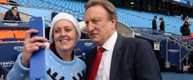 Neil Warnock and a fan