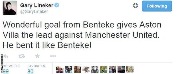 Gary Lineker twitter