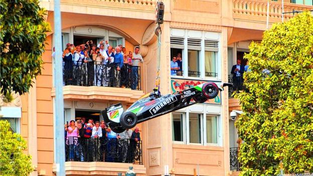Force India at Monaco