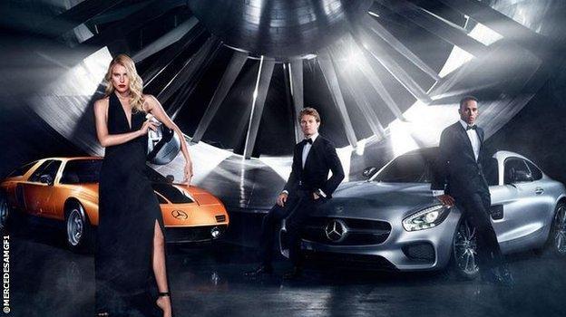 Mercedes drivers Lewis Hamilton and Nico Rosberg