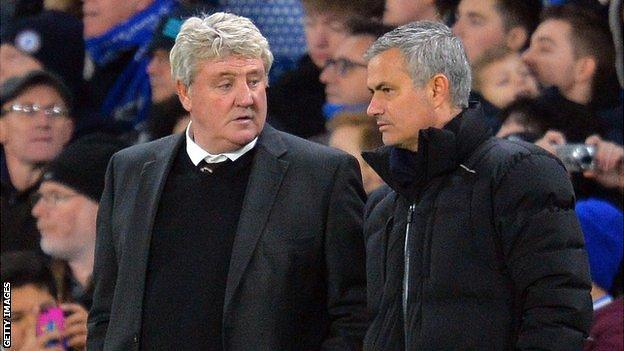 Steve Bruce and Jose Mourinho