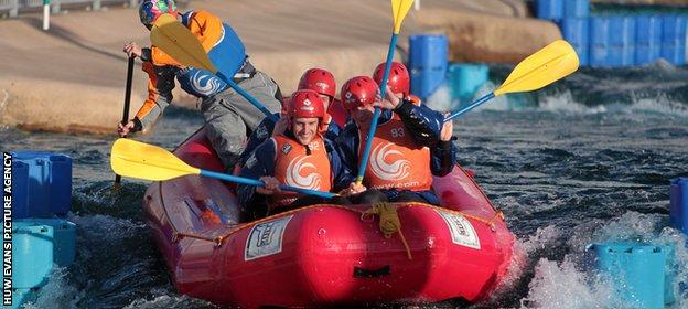 Glamorgan have included white-water rafting as a team-bonding exercise.