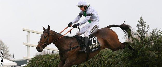 Pineau de Re clears the last fence at the Grand National