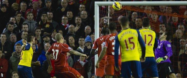 Mathieu Debuchy scores for Arsenal