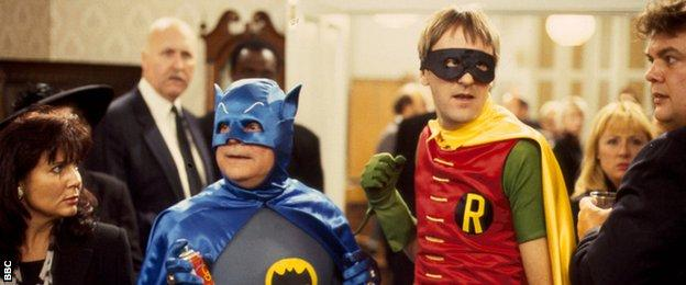Del Boy and Rodney as Batman and Robin in the 1991 Only Fools and Horses Christmas Special
