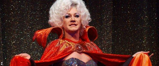 Lily Savage as the Wicked Queen in Snow White