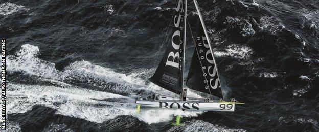 Hugo Boss boat