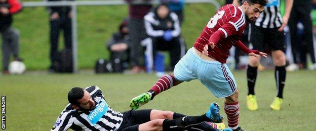 Jonas Gutierrez on his comeback for Newcastle under-21s