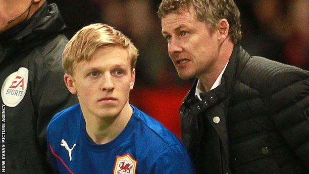 Mats Moller Daehli (L) was ex-manager Ole Gunner Solskjaer's second signing as Cardiff boss