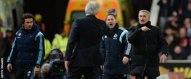 Mark Hughes and Jose Mourinho