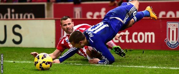 Phil Bardsley and Eden Hazard