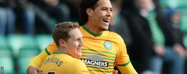 Kris Commons and Virgil can Dijk