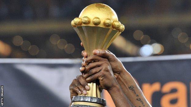 The Africa Cup of Nations trophy