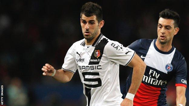 Benfica's Nelson Oliveira was previously loaned to French club Rennes