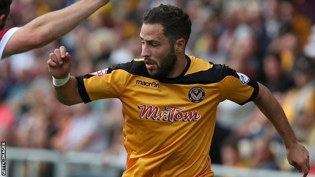 Robbie Willmott joined Newport County from Cambridge United in January 2013