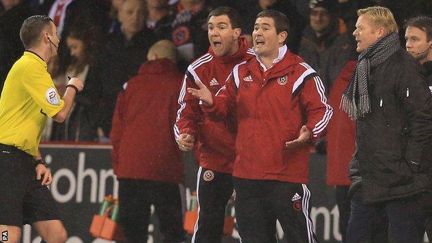 Chris Morgan and Nigel Clough
