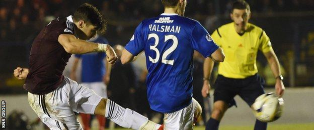 Callum Paterson cracked in a stunning volley midway through the second half
