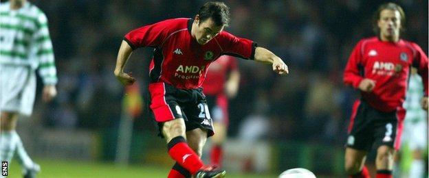 David Thompson playing for Blackburn Rovers