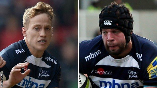 Mike Haley and Josh Beaumont