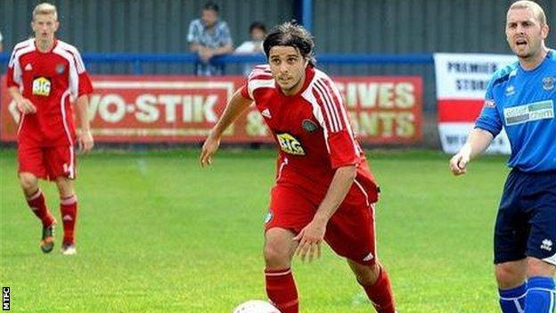 David Gonzalez in action for Macclesfield Town