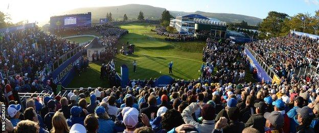 The first tee at Ryder Cup