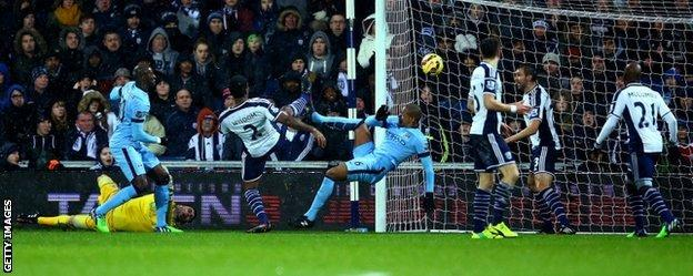 Fernando opened the scoring for Man City after Ben Foster's mistake