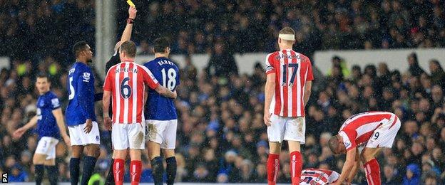 Gareth Barry yellow card