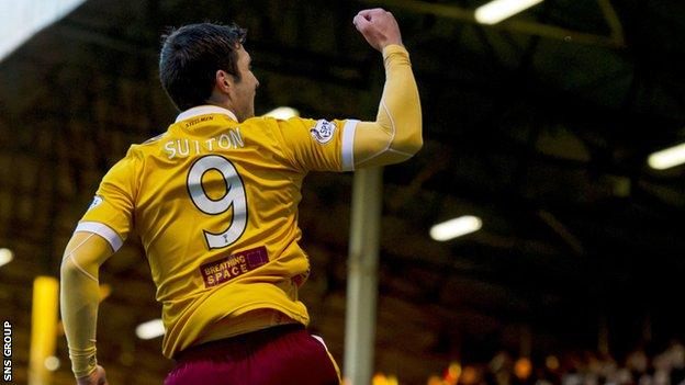 John Sutton struck the only goal of the game at Fir Park