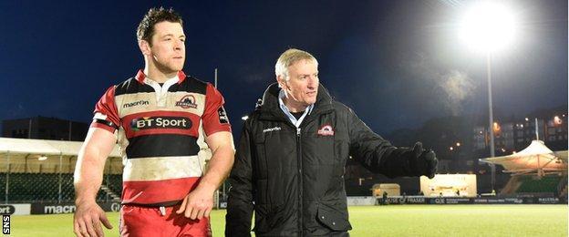 Edinburgh's Alasdair Dickinson and head coach Alan Solomons