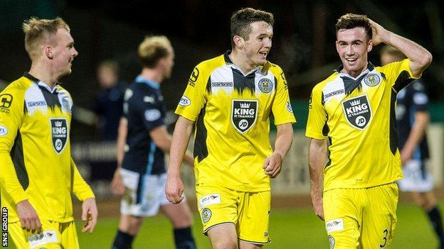 St Mirren were 3-1 winner at Dens Park