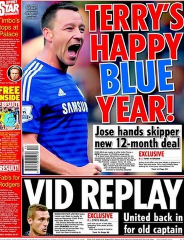 Star on Sunday's back page
